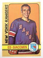 1972-73 Ed Giacomin New York Rangers 173 OPC O-Pee-Chee Hockey Card P259
