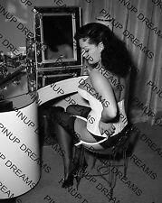 "Vintage 1950s 10"" x 8"" re-print Photograph of Pin-up Burlesque Star Mara Gaye"