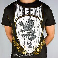 Time is Money rasta lion t shirt, supreme hiphop graffiti tee, bling retro men