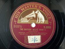 """78 rpm 10"""" BOSTON PROMENADE ORCHESTRA the skaters waltz"""