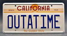 Back to the Future / Delorean / OUTATIME *STAMPED* Prop Replica License Plate