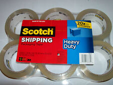 Scotch Packing Tape 6 rolls. 1.88 inch x 54.6 yards each. Fast Shipping!