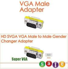 High Quality 15 Pin HD SVGA VGA LCD Male to Male Gender Changer Adapter