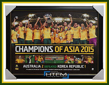 Champions of Asia Socceroos Limited Edition Print Framed Cahill Luongo - 1044