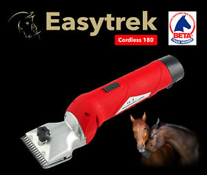 Cordless Horse Clippers with 1 year UK Warranty 2 blades 2 comb attachments  🐴