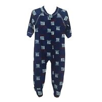 New York Giants Official NFL Apparel Infant Toddler Size Pajama Sleeper Bodysuit