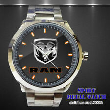 HO RELOJ 217 !! Dodge Logo RAM SRT Box Logo Sport Metal Watch Men's