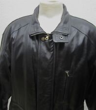 Members Only Black Leather  Bomber Jacket XL # 2932