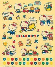 Vintage 1976 Sanrio Hello Kitty Sticker Sheet