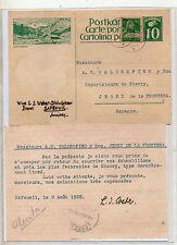 Suiza Entero Postal Circulado a Jerez de la Frontera año 1928 (CP-895)