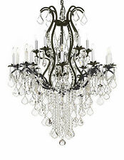 "Wrought Iron Chandelier Crystal Chandeliers Lighting H50"" X W36"