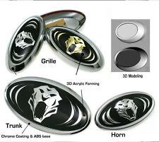 Tigris 3D Grille Trunk Horn EMBLEM 3EA For Hyundai Santa Fe 2007 2012
