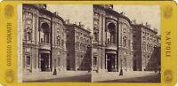 Torino Carignano Italia Stereo Sommer Vintage Albumina Ca 1865