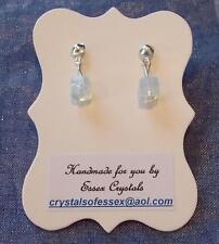 CANCER ZODIAC BIRTHSTONE MOONSTONE SEMI-PRECIOUS GEMSTONE earrings