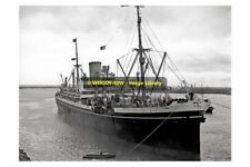 rp9921 - UK Liner - Moreton Bay , built 1921 - photo 6x4