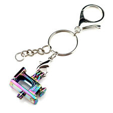 Key Chains Keychain Silver Plated Key Ring Clasp with Sewing Bead Cage Y672