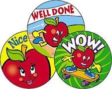 Apple Scent Scratch n Sniff School Teacher Reward Stickers - Fun Smelly Stickers