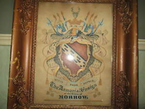 A Georgian or Victorian coat of arms - Morrow family history - Heraldry