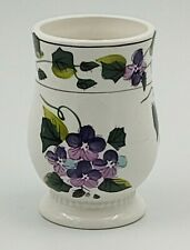 Waverly Green Collection Sweet Violet Bathroom Tumbler Toothbrush Holder EUC