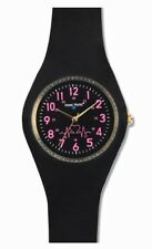 Nurse Mates Black Silicone Uni-Watch With Military Time!
