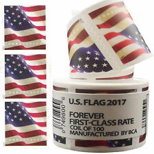 US American Forever Flag Stamps 2017 100 count Roll (Coil) Sealed -Free Shipping