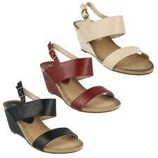 Sandali e scarpe casual nero zeppa per il mare da donna