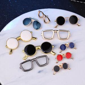 Enamel Oil Collar Pins Sunglasses Pin Fashion Glasses Brooch Clothing Accessory