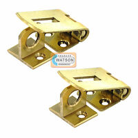 2 x 38mm SOLID BRASS HASP & STAPLE Small/Mini Door Cupboard/Cabinet Strap Lock