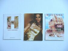 MADONNA - 3 RARE POSTCARDS (HAPPY CHRISTMAS - GHV2 PROMO / GOLD PIC / GERMAN)