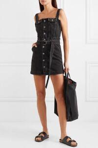Ksubi Deejay Denim Dress Size S (8 AUS) Venom Black NWD Free Oz Shipping 🇦🇺