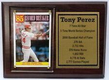 Cincinati Reds Tony Perez Baseball Card Plaque