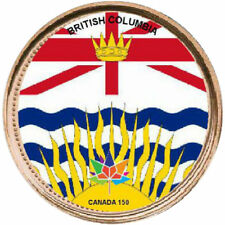 2012 Canadian Penny - BC Provincial Flag Canada 150