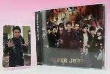 CD+Photo card SUPER JUNIOR JAPAN 3rd Single Opera Sungmin E.L.F Limited