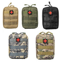 Tactical MOLLE Medical First Aid Kit Utility Pouch Compact Emergency Bag Outdoor