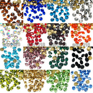 WHOLESALE Lot TOP Quality Crystal Rhinestones 1440pcs Pointed Foiled Back