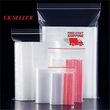 More details for clear plastic poly bags baggies baggy grip seal sealable plastic zip lock click