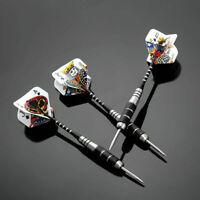 3Stk Steel Tip Darts Set Stainless Barrel Mit Aluminium Tac PokerShaft Dart P0H1