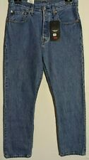 """WOMEN'S LEVI'S JEANS 501 CROPPED STRAIGHT BLUE SIZE 12 LEG 28"""" NWT RRP $149.95"""