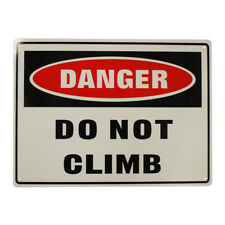 2x Warning Notice Danger Do Not Climb Safety Sign 225x300mm Metal Best Quality