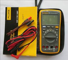 NEW True FLUKE 17B+ F17B+ Digital Multimeter w/carrying bag case USA Seller
