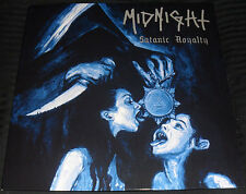 Midnight ‎- Satanic Royalty LP - SILVER Vinyl with Poster - NEW COPY - 300
