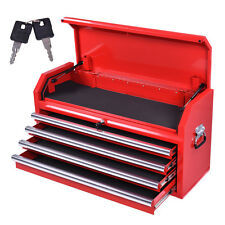 Portable Tool Chest Box Storage Cabinet Garage Mechanic Organizer 4 Drawers Red