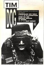 "25/7/92PGN12 TIM DOG : PENICILLIN ON WAX ALBUM ADVERT 7X5"""