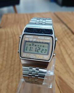 Vintage Rare Seiko A169-5000 Lcd Chronograph Melody Watch 1979