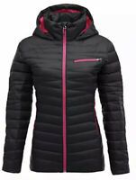 Spyder Women's Timeless Hoodie in Black/Berry  Size XS H1518