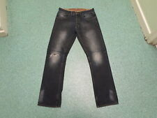"George Straight Jeans Waist 30"" Leg 32"" Faded Dark Blue Mens Jeans"