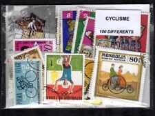 Cyclisme - Cycling 100 timbres différents oblitérés