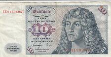 Billet banque ALLEMAGNE GERMANY 10 Mark 1977 état voir scan 695