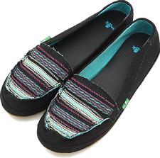 NWT Sanuk ZUZU Sidewalk Surfers Shoes BLACK MULTI Womens 6 M