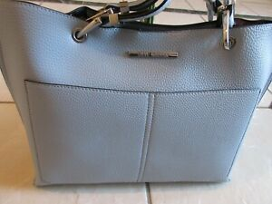 Steve Madden Textured Bdonna Style Tote Bag In Bag Light Blue Color New With Tag